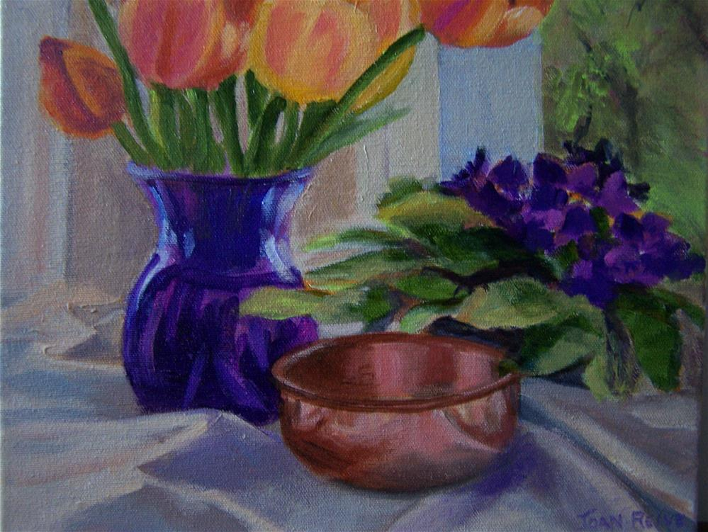 """Still Life with Copper Pot"" original fine art by Joan Reive"