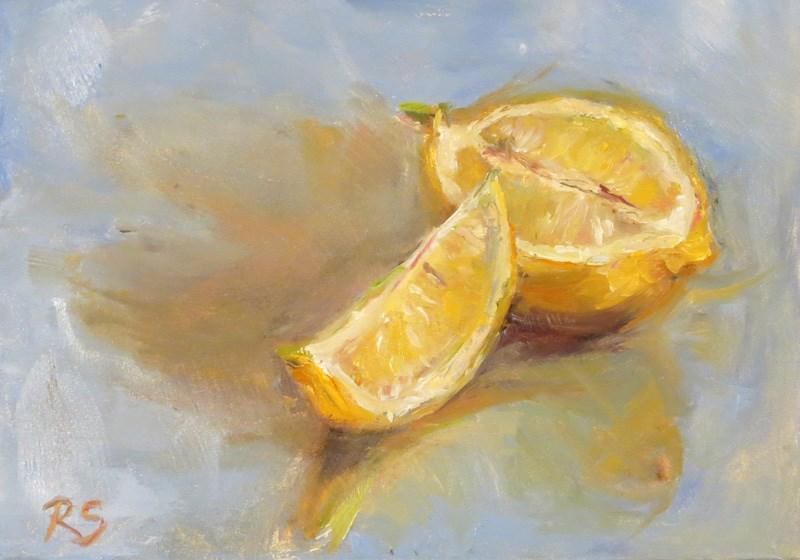 """""""'L' is for Lemon"""" original fine art by Regula Scheifele"""