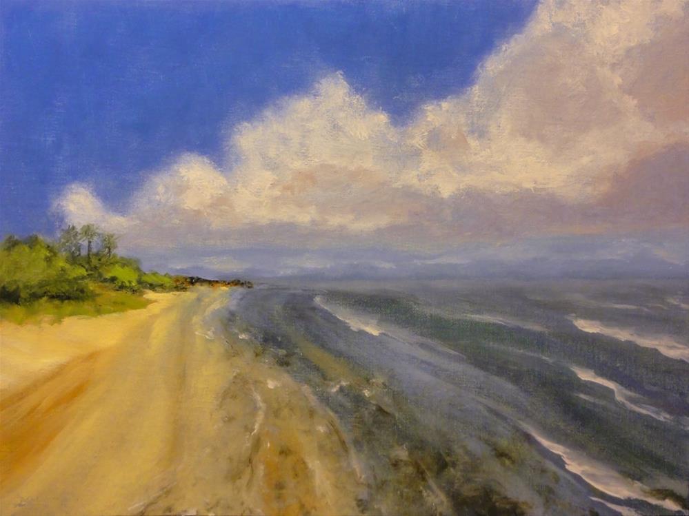 """Big Cloud Beach"" original fine art by Dalan Wells"
