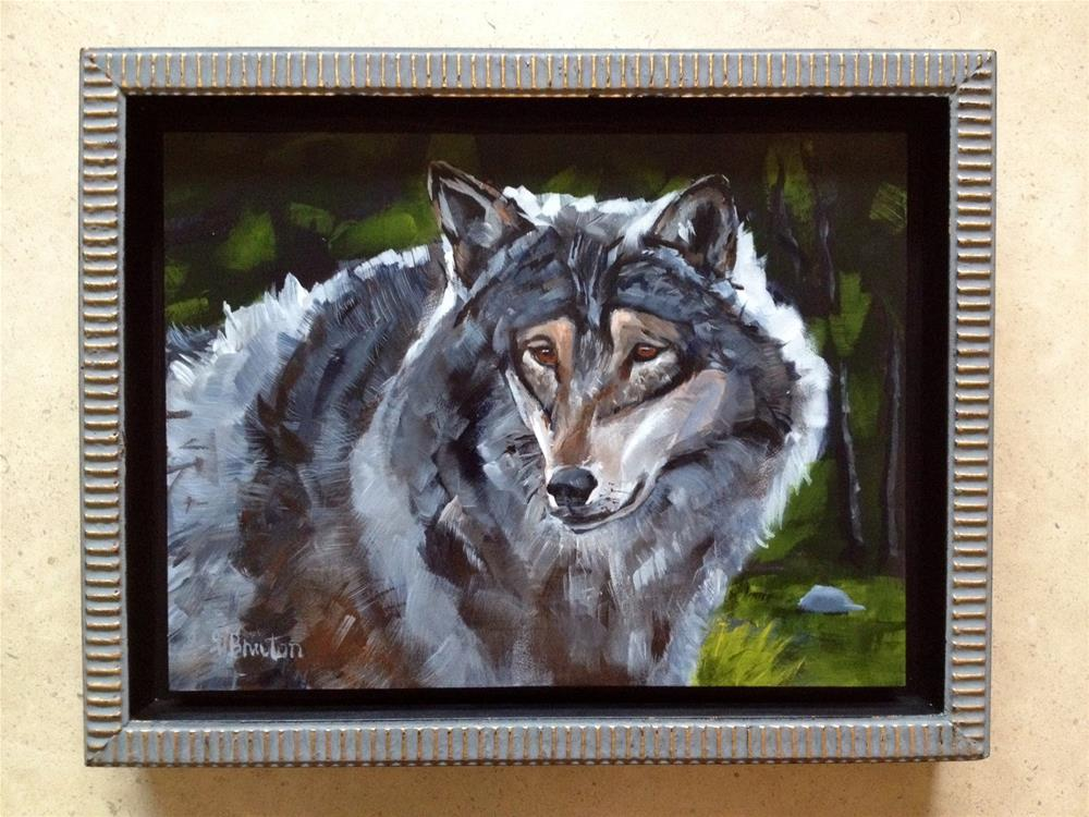 """Wolf"" original fine art by Gary Bruton"