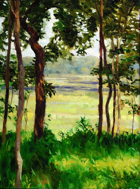 """Through the Trees (Ferson Creek)"" original fine art by Scott Harding"