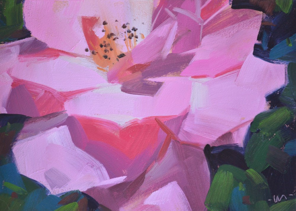 """Only in a Pink Paradise"" original fine art by Carol Marine"
