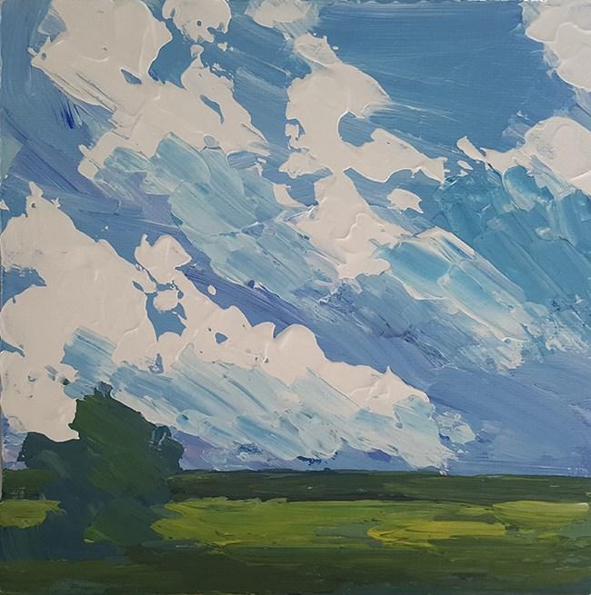 """Impasto Skyscape"" original fine art by J M Needham"