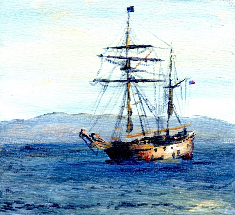 """Hawaiian Chieftain"" original fine art by Judith Elder"