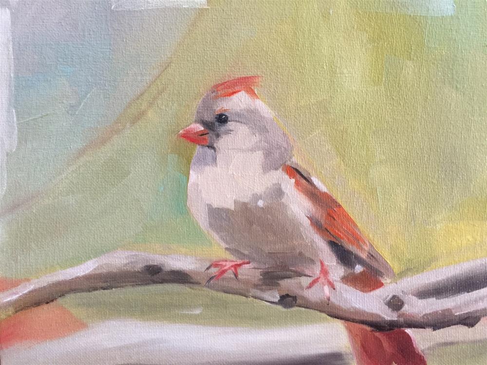 """302 Perched Bird"" original fine art by Jenny Doh"