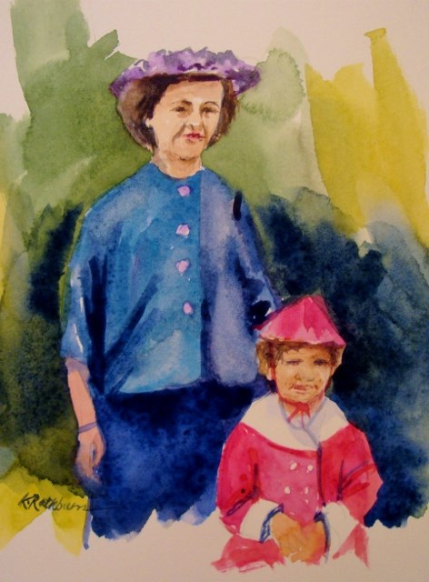 """Mommy and Me"" original fine art by Kathy Los-Rathburn"