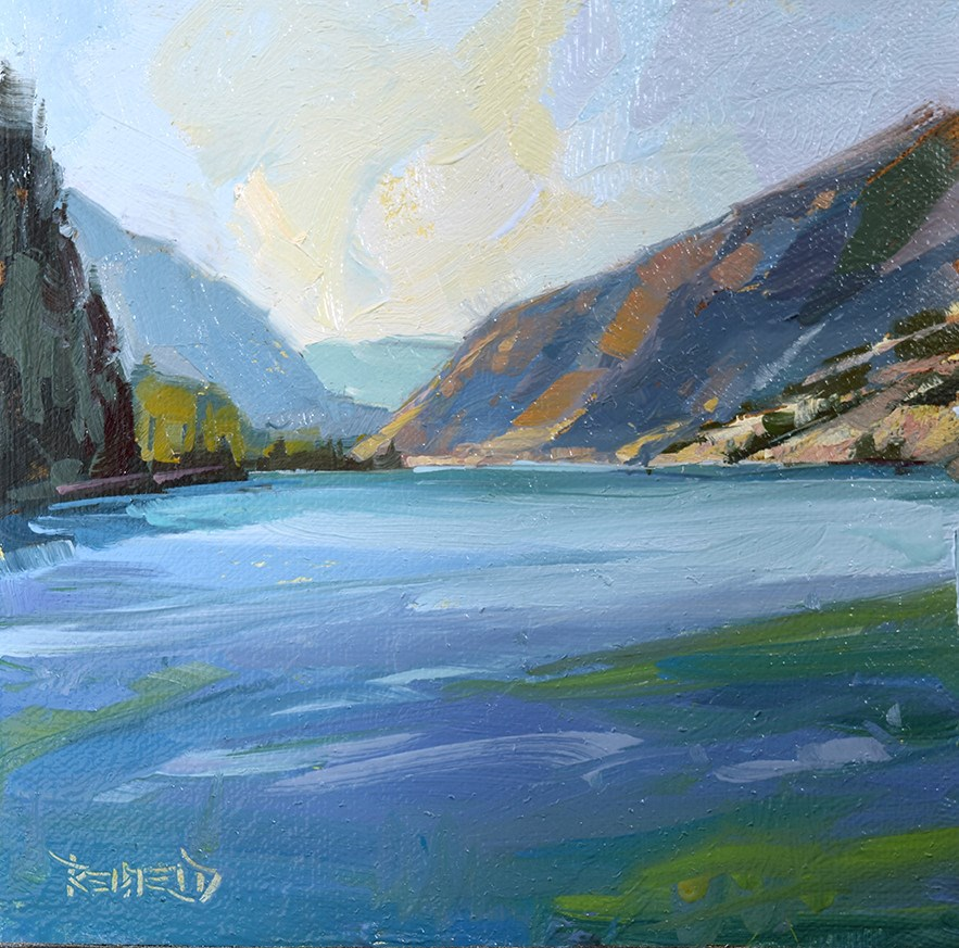 """Down The Gorge"" original fine art by Cathleen Rehfeld"