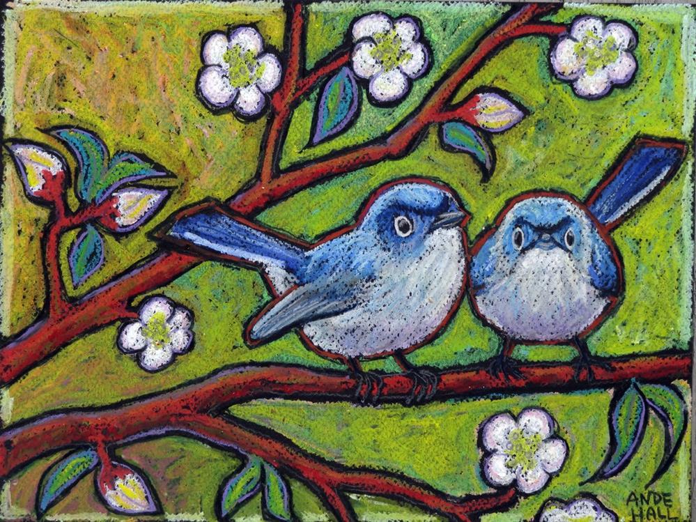 """Gnatcatchers"" original fine art by Ande Hall"