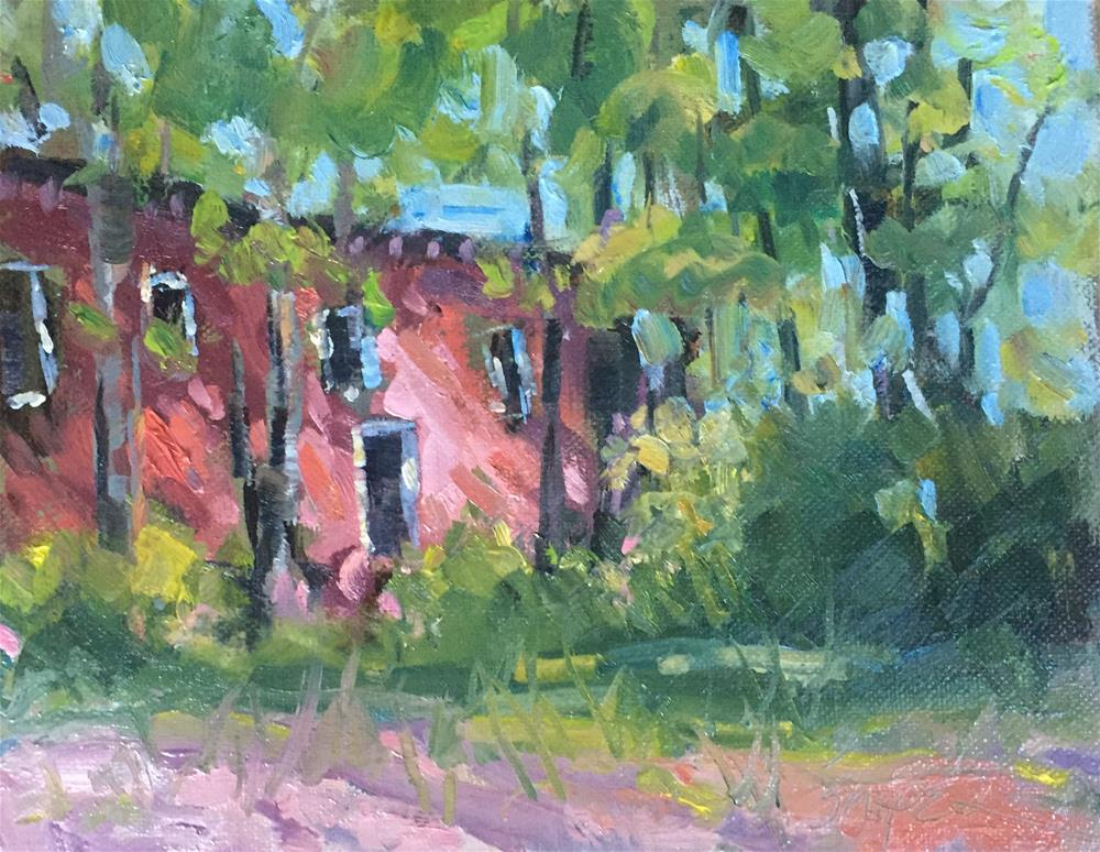 """Morning Dappled Light"" original fine art by Connie Snipes"
