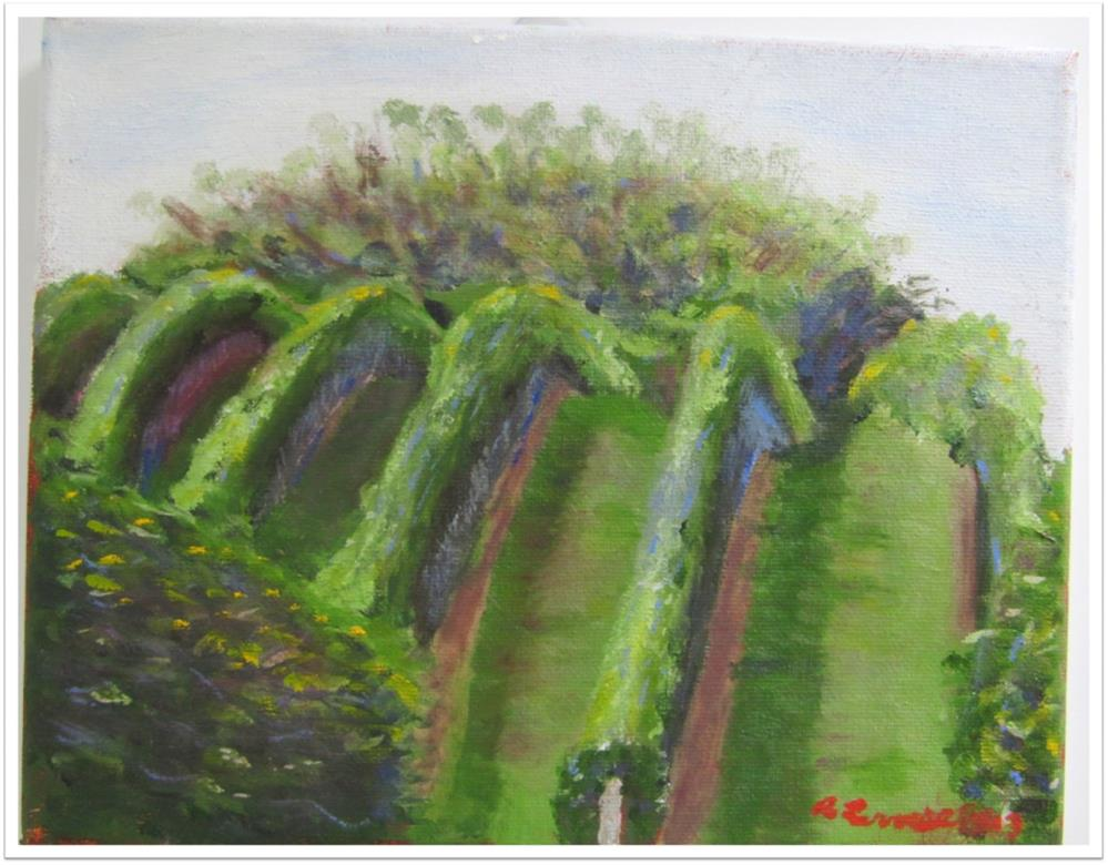 """Vineyard Majestic field 1 2012"" original fine art by Ruth Lerner"