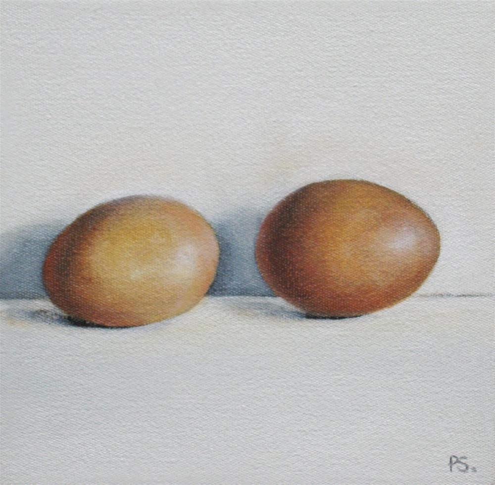 """Two brown Eggs"" original fine art by Pera Schillings"