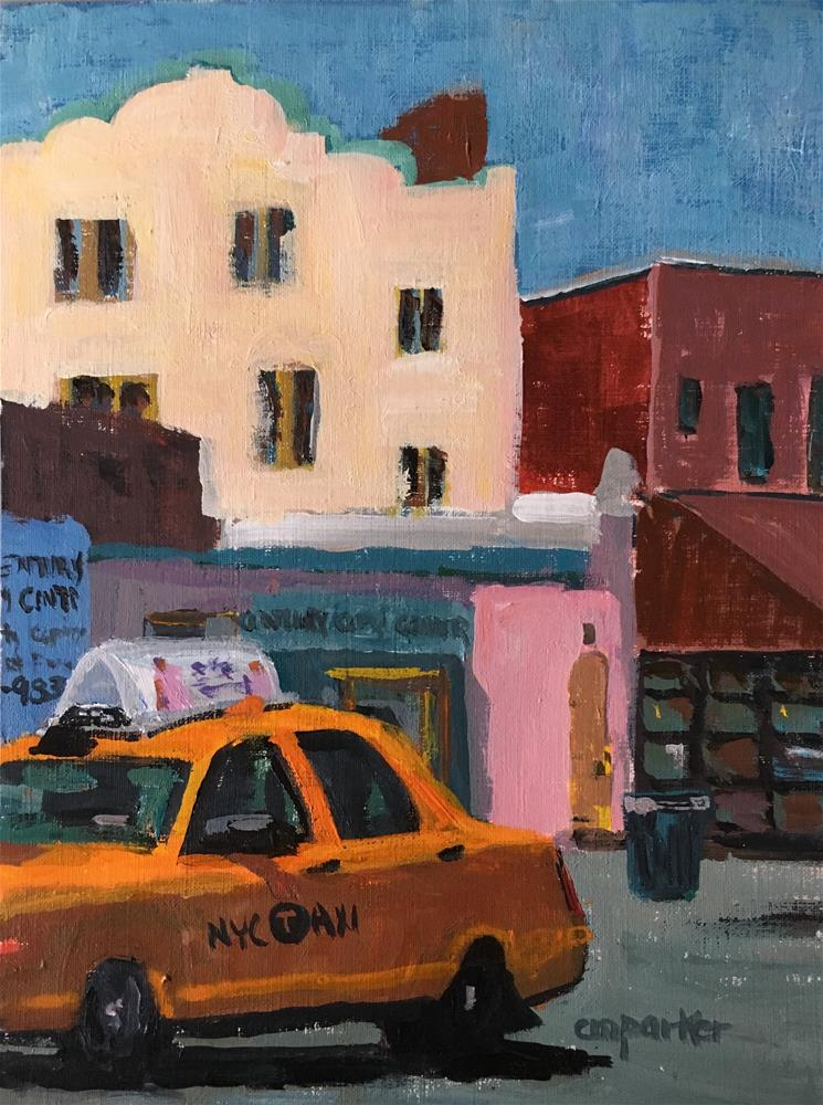 """Seventh Avenue, Greenwich Village"" original fine art by Christine Parker"