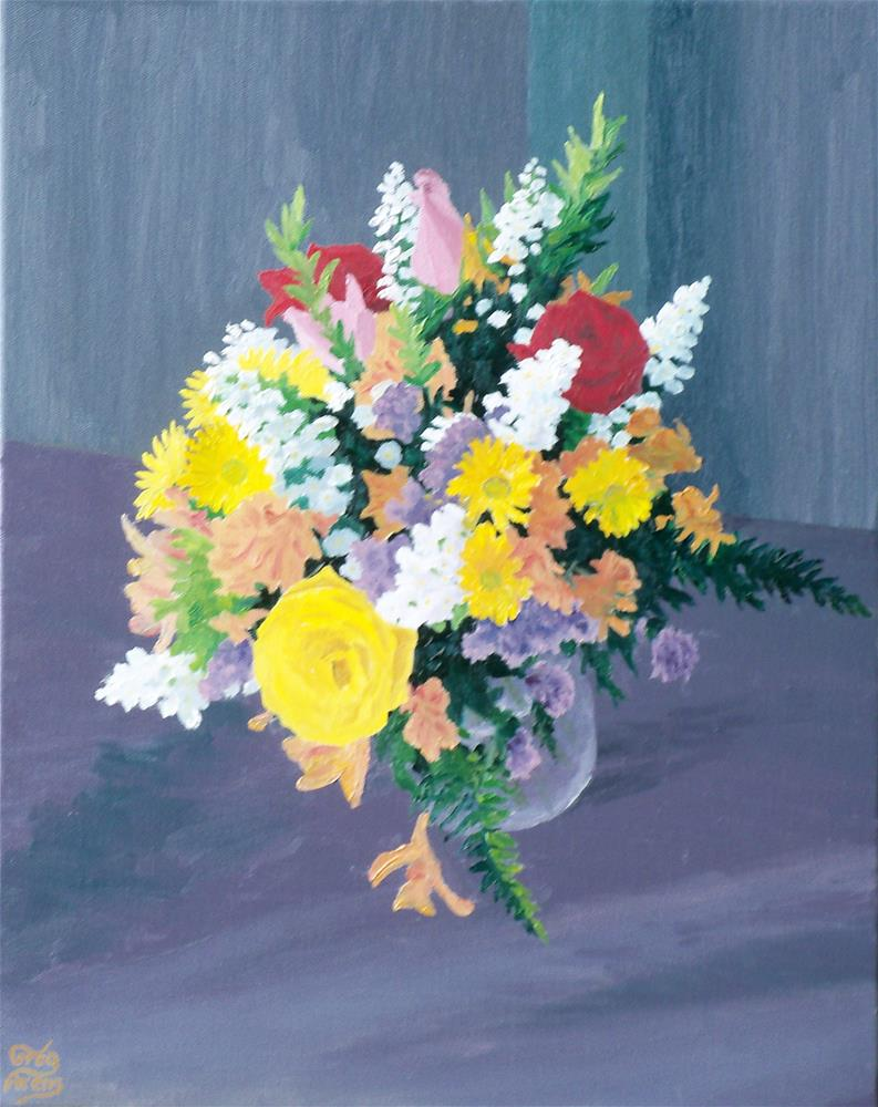 """Doris' Bouquet"" original fine art by Greg Arens"