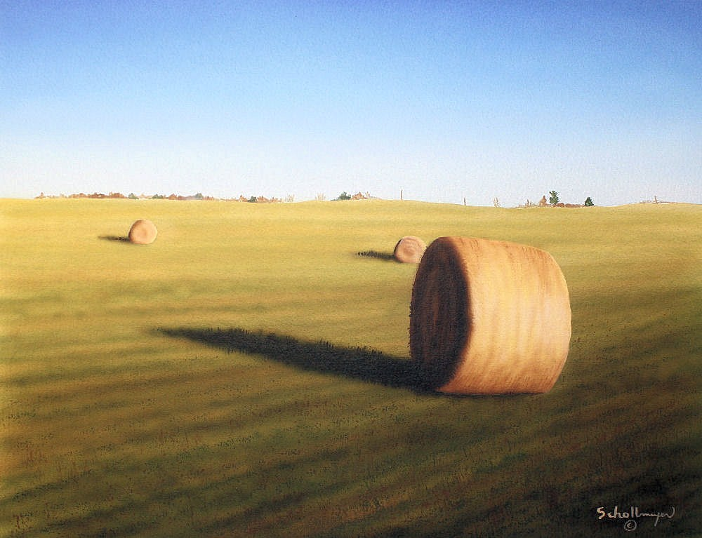 Late Morning Hay Field original fine art by Fred Schollmeyer