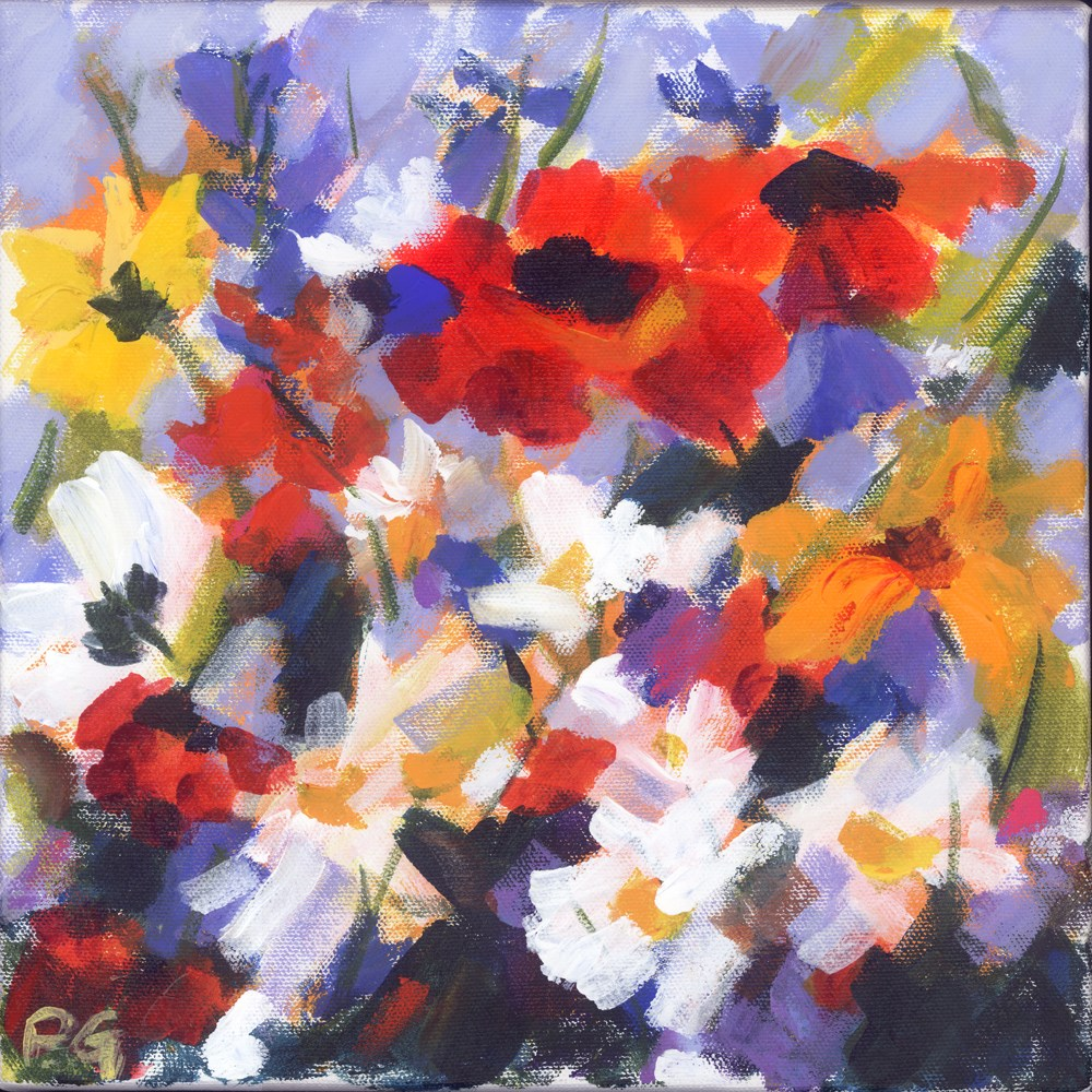 """Primarily Wildflowers"" original fine art by Pamela Gatens"