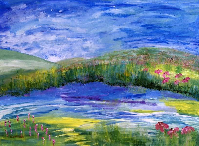"""The Sunrise"" original fine art by Caren Benzer"