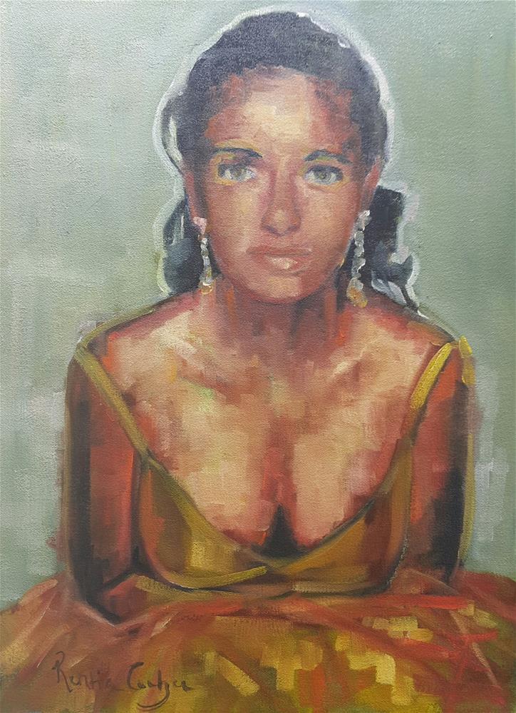 """Party girl"" original fine art by Rentia Coetzee"