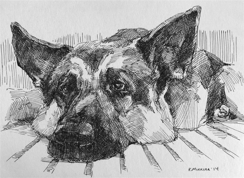 """adopt15"" original fine art by Katya Minkina"