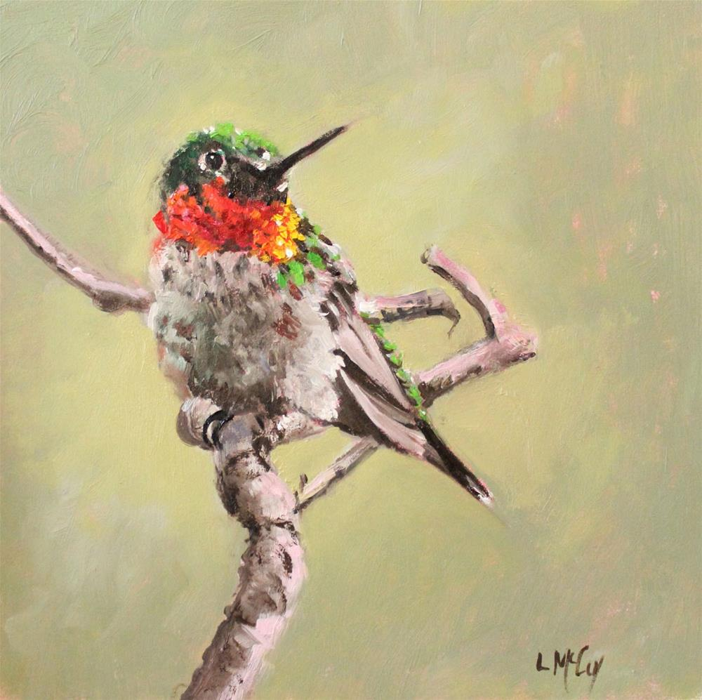 """Hummingbird, Morning Light"" original fine art by Linda McCoy"