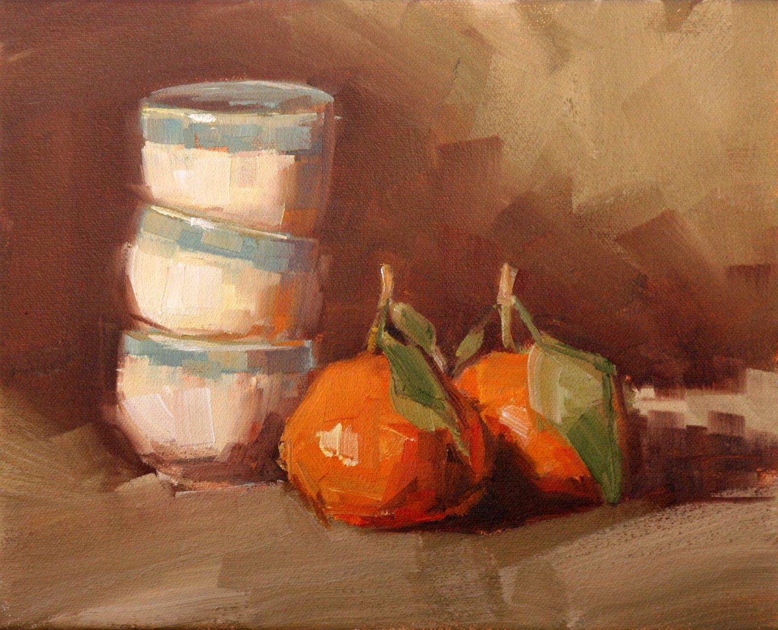 """sweet clementine"" original fine art by Carol Carmichael"
