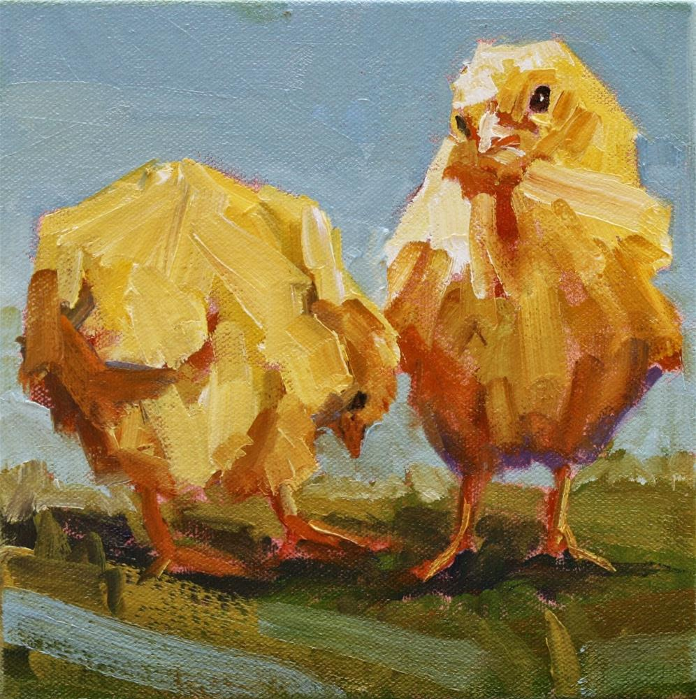 """barnyard babies"" original fine art by Carol Carmichael"