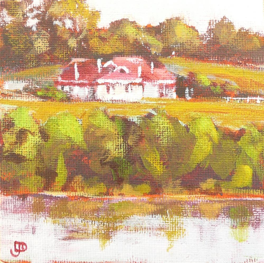 """Early Morning At River Farm"" original fine art by Leanne Owen"