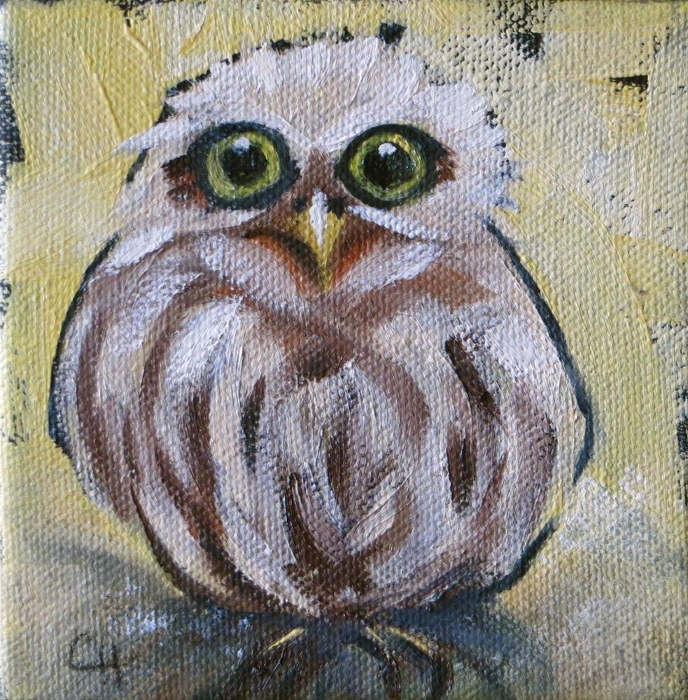 """Little Owl no.2"" original fine art by Claire Henning"