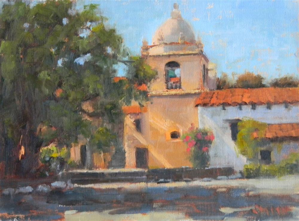 """Carmel Mission Light"" original fine art by Barbie Smith"