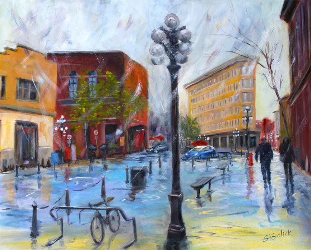 """Gastown Vancouver"" original fine art by Susan Galick"