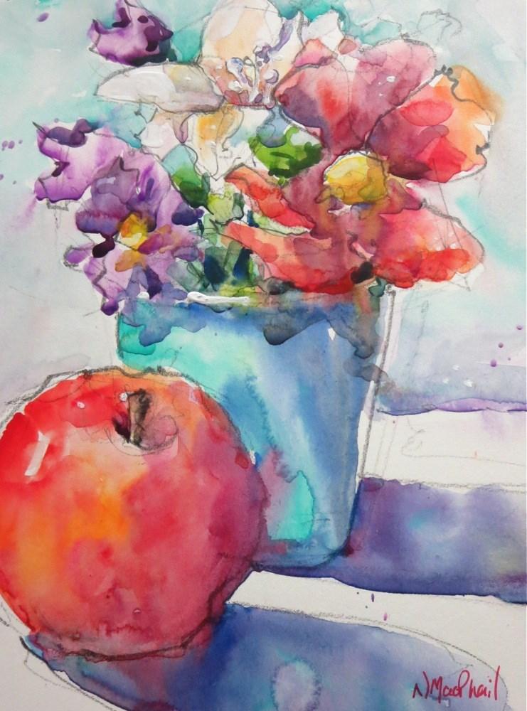 """mish mash"" original fine art by Nora MacPhail"