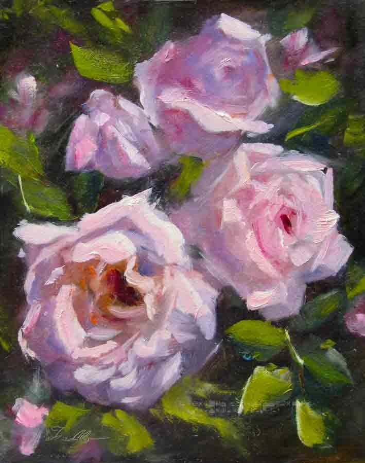 """Pink Whispers Revisited"" original fine art by Pat Fiorello"