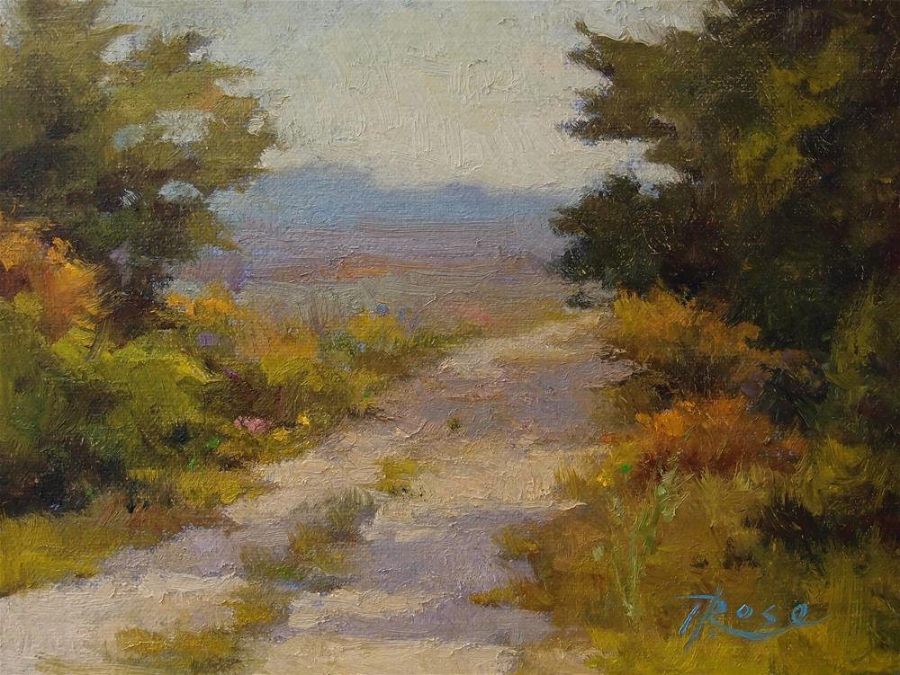 """Berkshire Path"" original fine art by Howard Rose"