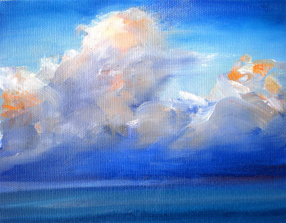 """Early Afternoon Clouds  - 150528s"" original fine art by richard rochkovsky"