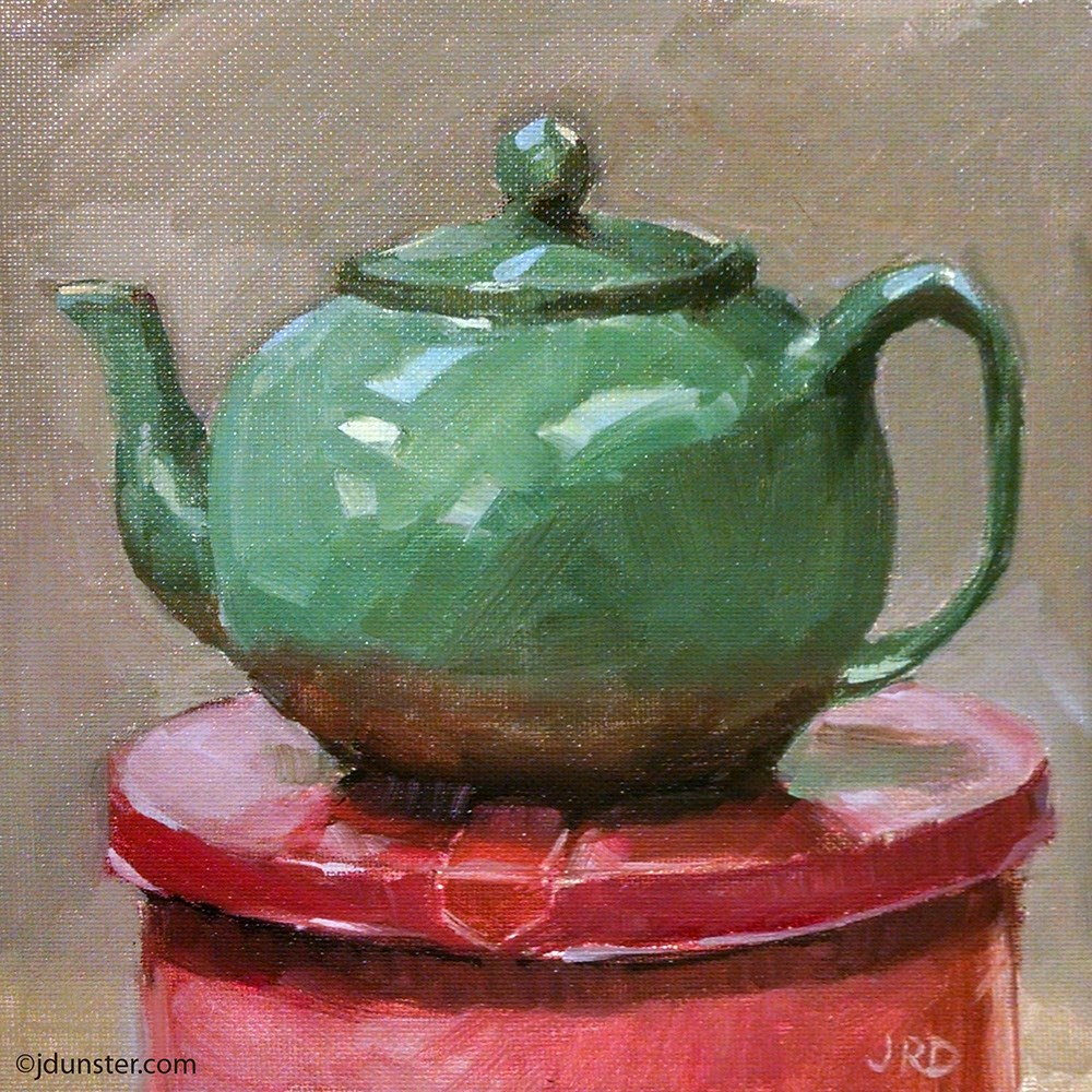 """Studio Teapot"" original fine art by J. Dunster"
