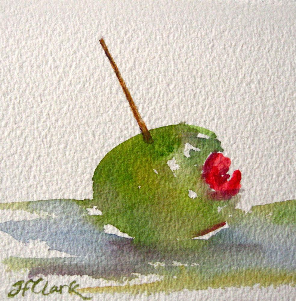 """Shaken or Stirred? tiny study"" original fine art by Judith Freeman Clark"
