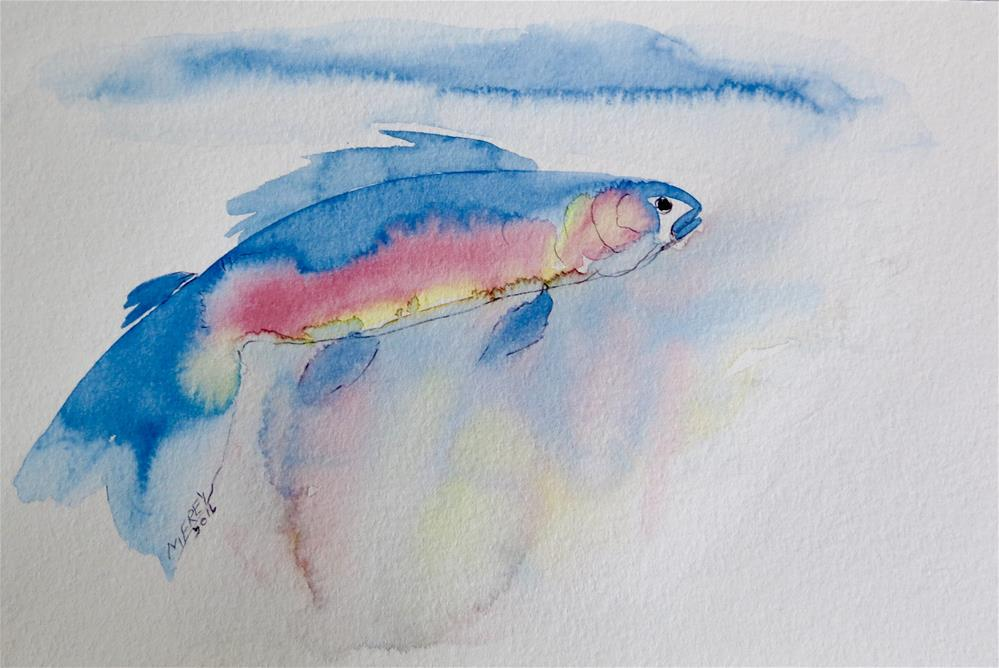 """Fish 0130"" original fine art by Michelina Frey"
