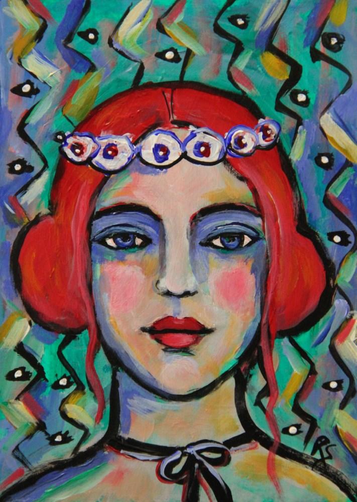 """Orne de Fleurs"" original fine art by Roberta Schmidt"