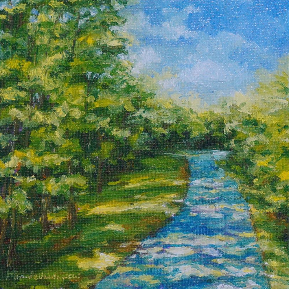"""A Sun Dappled Walk"" original fine art by Maria Levandowski"