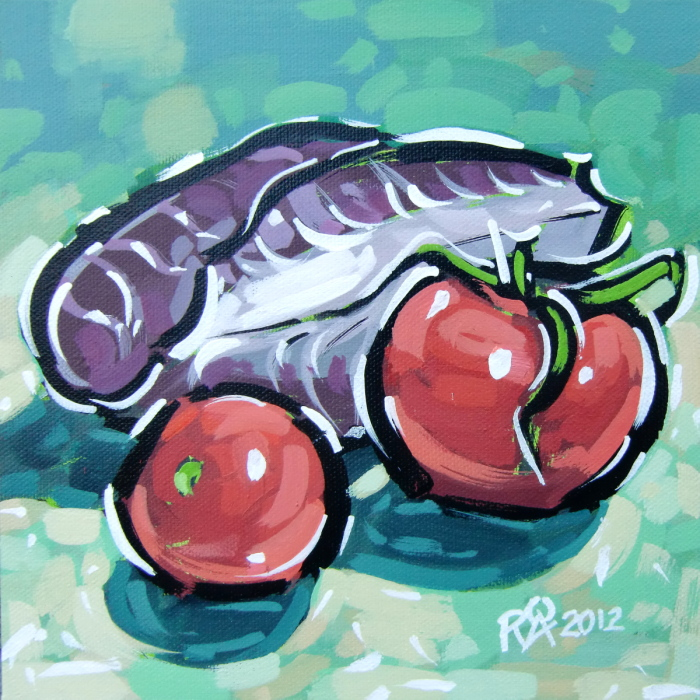 """Tomatoes and radicchio"" original fine art by Roger Akesson"