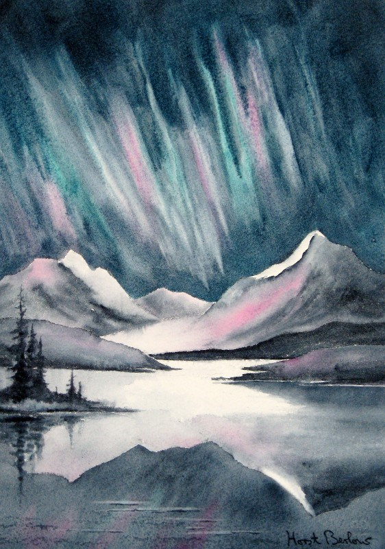 """Northern Lights"" original fine art by Horst Berlow"
