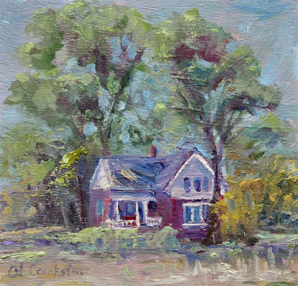 """House Across the Tracks"" original fine art by Catherine Crookston"