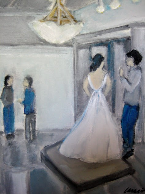 """The Bride"" original fine art by N. Lorraine"
