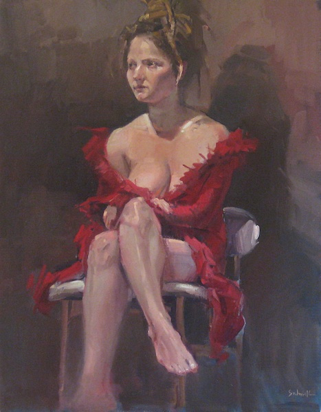 """Rebecca in Red"" original fine art by Sarah Sedwick"