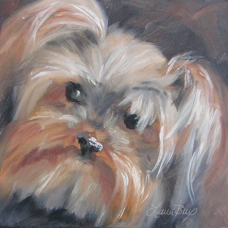 """Cutie Pie - 405"" original fine art by Laura  Buxo"
