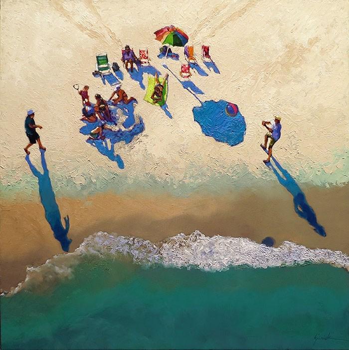 """High as a Kite"" original fine art by Karin Jurick"