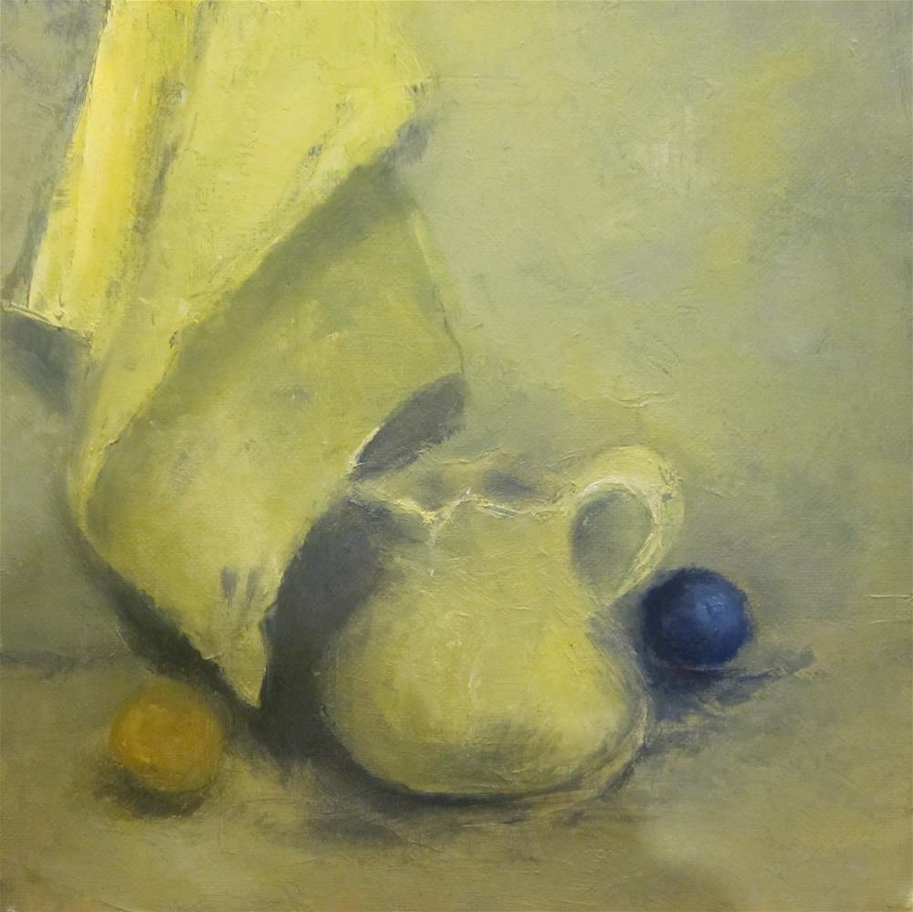 """Blue Marble II"" original fine art by Carol Wiley"