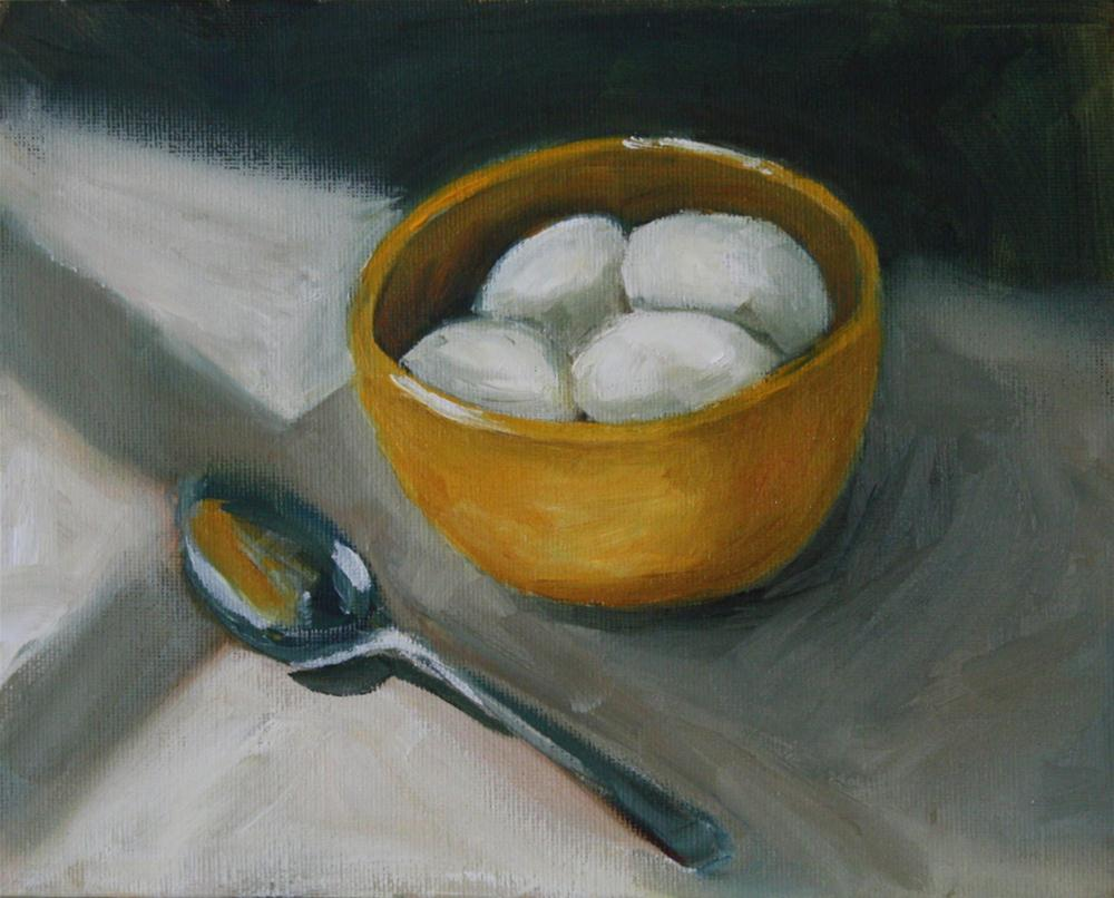 """Eggs in Bowl"" original fine art by Shannon Bauer"