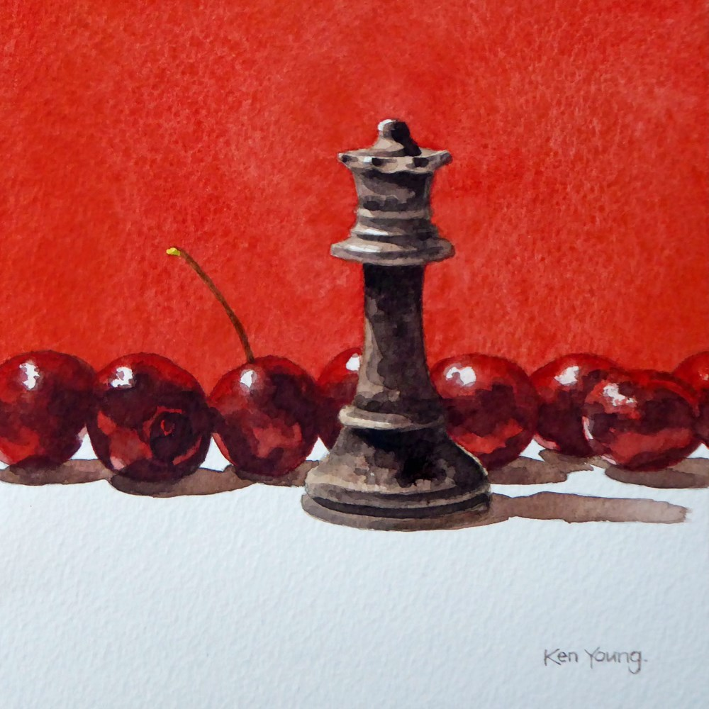 """Queen Of Cherries"" original fine art by Ken Young"