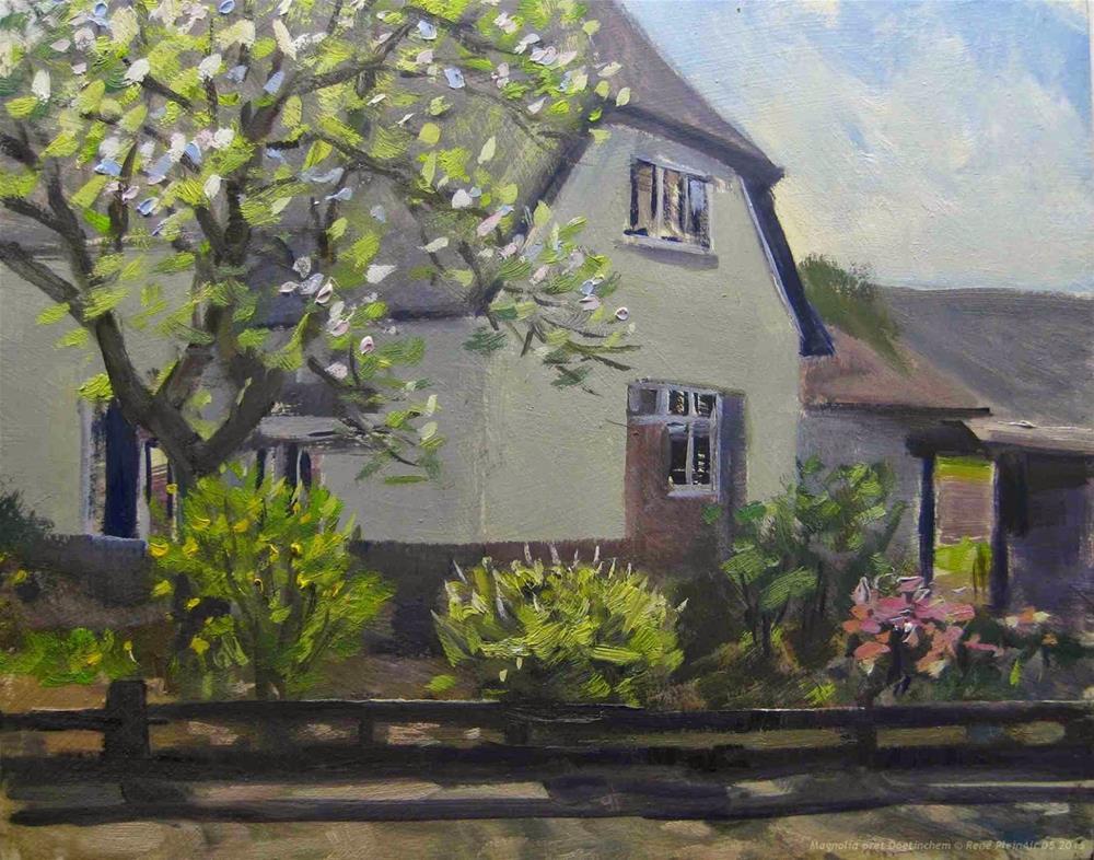 """Magnolia fun Doetinchem, The Netherlands"" original fine art by René PleinAir"