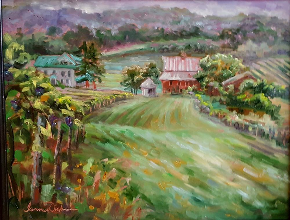 """Vineyard on the Farm"" original fine art by Tammie Dickerson"